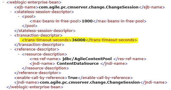 RE: Small ECO w/ Weblogic Timeout Exception